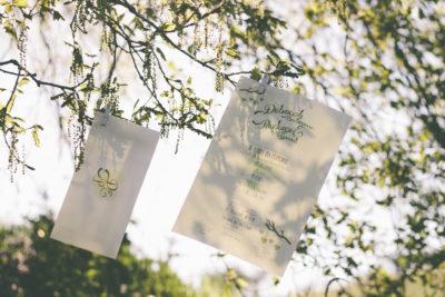 Partecipazioni di matrimonio verde e natura