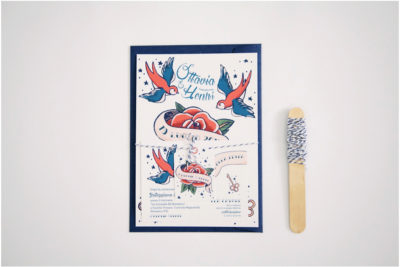 Rockabilly Wedding Stationery / O&H