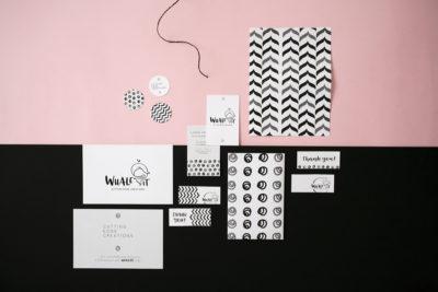 Logo e identità visiva per Whale It, piccolo business di laser cutting