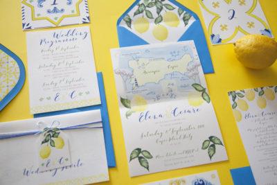 Capri Wedding Stationery Illustrata