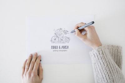 Logo e identità visiva Mirco e Anisa Videografi