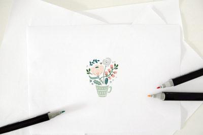 Logo fiorista, caffetteria, concept store Verde e a Capo