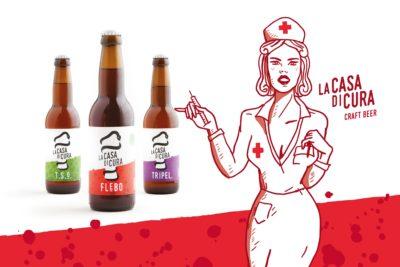 Brand identity e packaging birra La Casa di Cura