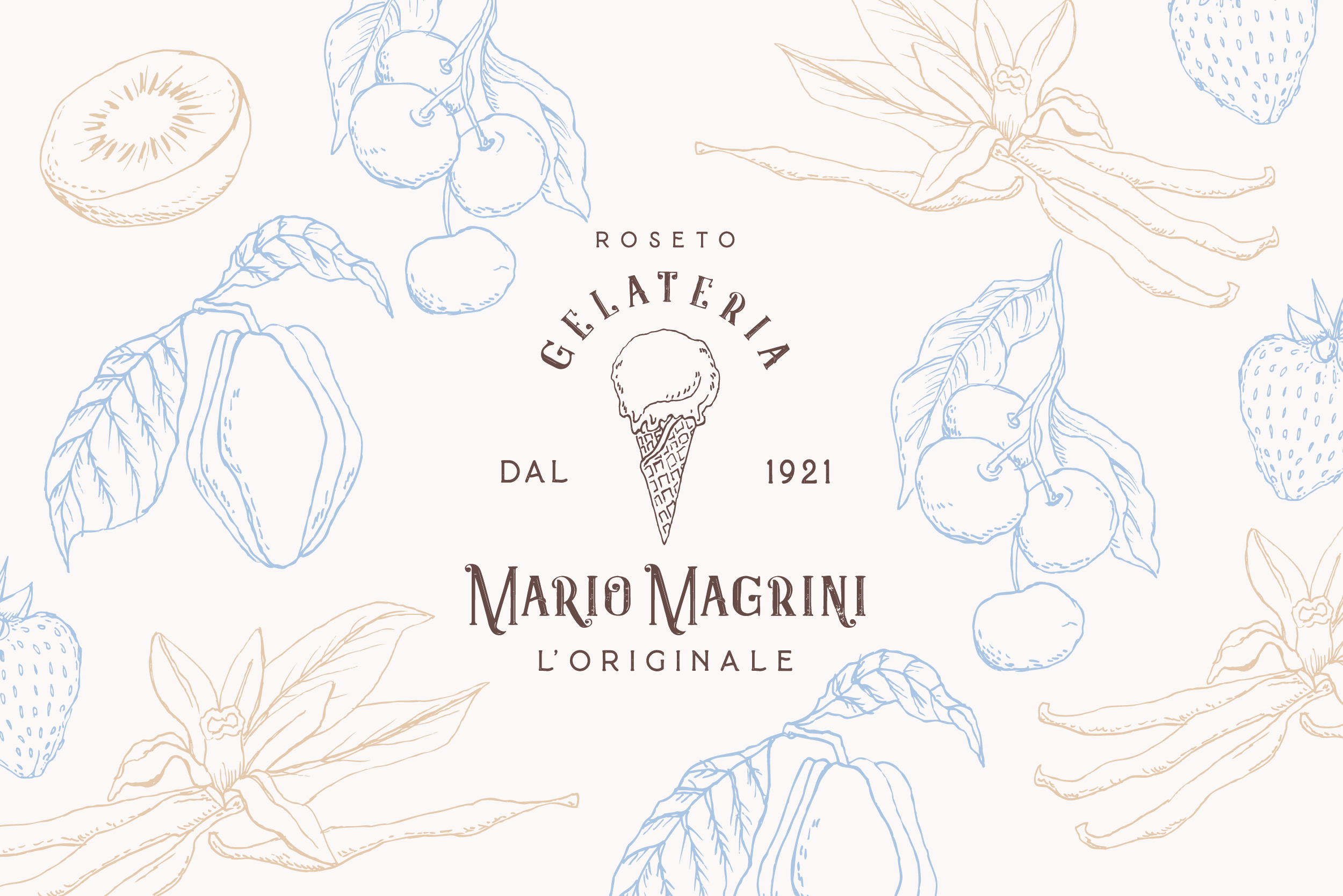 "Restyling brand identity ""Gelateria Mario Magrini dal 1921"""